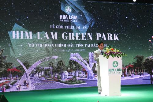 Ông Trần Công Lâm - Phó Tổng giám đốc Công ty Cổ phần Him Lam kiêm Giám đốc Công ty Cổ phần Him Lam chi nhánh Bắc Ninh kỳ vọng dự án Him Lam Green Park trở thành khu đô thị kiểu mẫu tại Bắc Ninh.