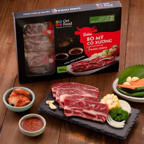 Combo King BBQ Sườn Bò Mỹ Có Xương 750gr  Chuẩn vị BBQ từ nhà hàng
