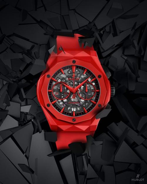 Hublot Classic Fusion Aerofusion Chronograph Red Ceramic