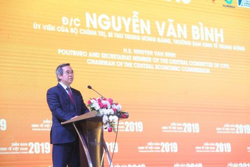 Ông Nguyễn Văn Bình, Trưởng Ban Kinh tế Trung ương trong Phiên đối thoại chính sách cấp cao, chiều 17/1.