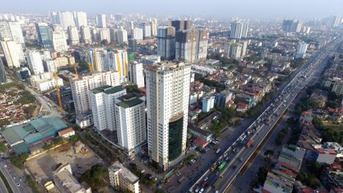 Một khu vực tại Hà Nội xây dựng nhiều nhà chung cư, văn phòng làm việc tại Hà Nội. Ảnh: Giang Huy