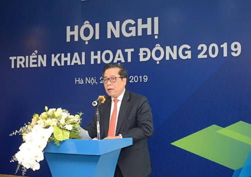 Ông Nguyễn Kim Anh- Phó thống đốc Ngân hàng Nhà Nước - phát biểutại hội nghị.