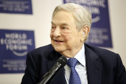 Tỷ phú đầu tư George Soros tại Davos. Ảnh: AFP