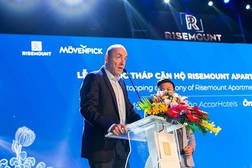 Ông Guy Poujoulat, đại diện AccorHotels tại khu vực miền Trung nói về tháp đôi Risemount - Movenpick