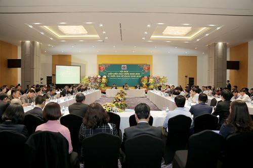 Ông Nguyễn Thiện Tuấn, Chủ tịch HĐQT tập đoàn DIC phát biểu chỉ đạo về những công việc trọng tâm trong năm 2019.