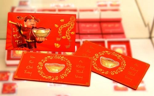Sản phẩm Lì xì Tài Lộc hoàn toàn bằng vàng 24k.