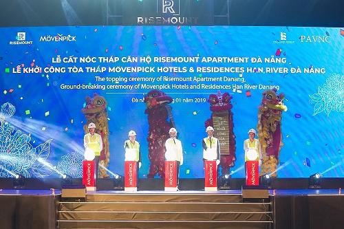 Lễ cất nóc Tòa tháp đôi Risemount Apartment và Movenpick Hotels & Residences Han River Đà Nẵng