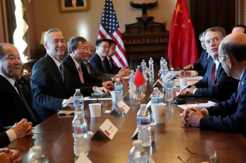 Đoàn đàm phán của Mỹ và Trung Quốc trong 2 ngày qua. Ảnh: Reuters