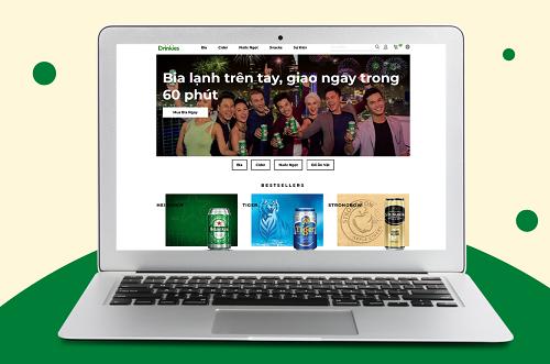 Trang thương mại điện tử Drinkies.vn cam kết bán và giao thức uống lạnh chỉ trong vòng 60 phút tại TP HCM.