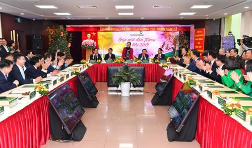 Toàn cảnh chương trình gặp mặt đầu Xuân Kỷ Hợi 2019 tại Vietcombank.