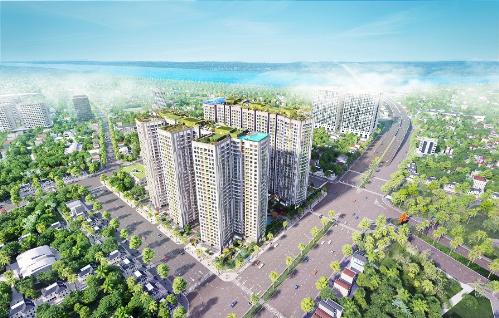 Đường Minh Khai ngay trước dự án đã được mở rộng và đưa vào sử dụng.