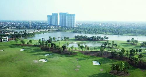 Ecopark là một trong những khu đô thị sinh tháinổi bật của Hà Nội.