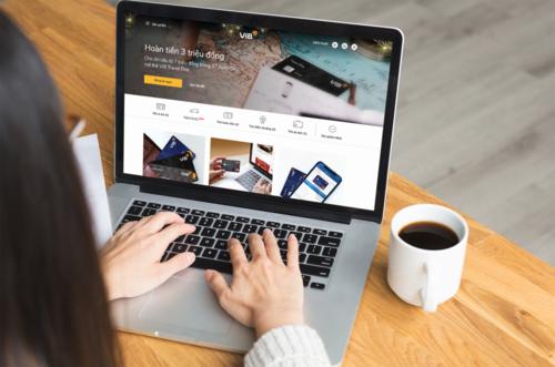 Website ngân hàng số mới của VIB sở hữu giao diện tinh gọn, tối giản,dựa trên trải nghiệm người dùng.