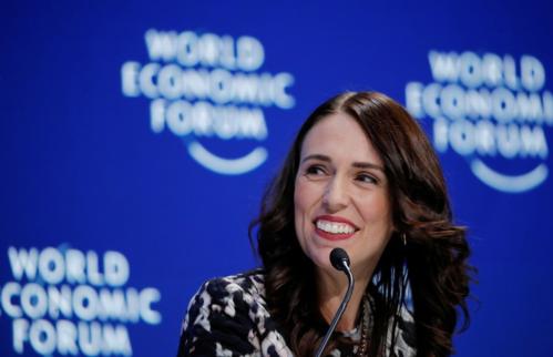 Thủ tướng New Zealand - Jacinda Ardern tại Diễn đàn Kinh tế Thế giới. Ảnh: Reuters