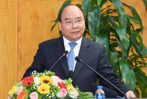 Thủ tướng Nguyễn Xuân Phúc làm việc với Bộ Kế hoạch & Đầu tư ngày 19/2. Ảnh: VGP