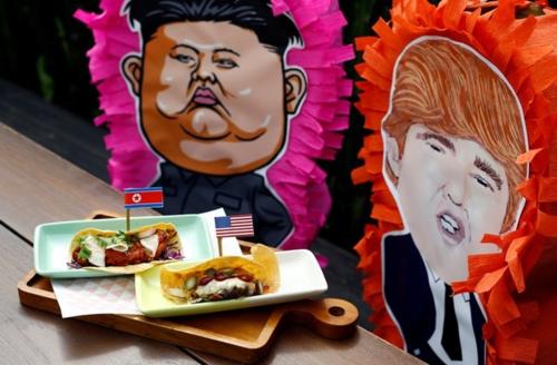 Món Taco ăn theo hội nghị Trump - Kim của Lucha Loco. Ảnh: Reuters