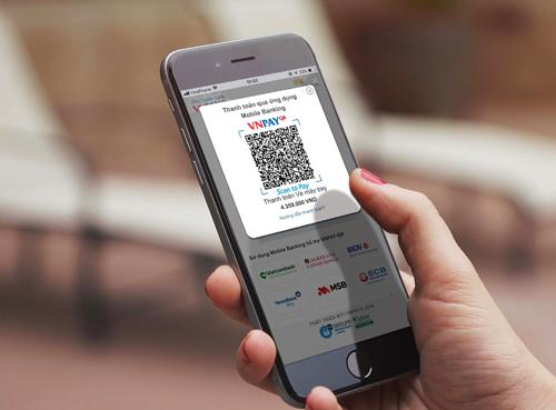 Cách thanh toán bằng mã QR trên ứng dụng.