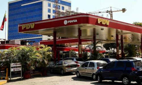 Một trạm xăng của PDVSA tại Venezuela. Ảnh: AFP