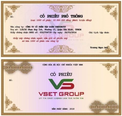 Vsetgroup phát hành cổ phiếu, trái phiếu cho nhà đầu tư.