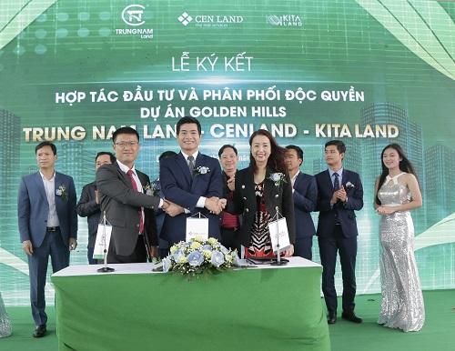 Đại diện KiTa Land, Trung Nam Land và CenLand tại buổi lễ kí kết hợp tác.