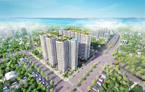Dự án Imperia Sky Garden tọa lạctrên mặt đường lớn Minh Khai.