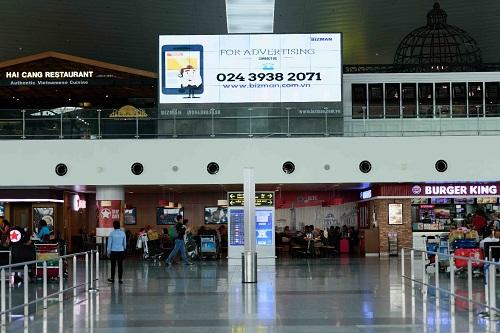 Màn hình quảng cáo khổ lớn của Bizman có mặt tại nhiều Cảng hàng không quốc tế.