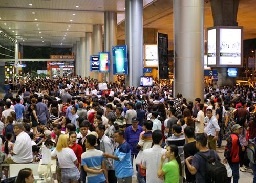 Sân bay Tân Sơn Nhất vào mùa cao điểm Tết. Ảnh: Quỳnh Trần