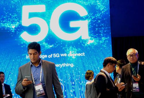 Trải nghiệm mạng 5G tại Hội nghị di động thế giới MWG 2019. Ảnh: Viễn Thông
