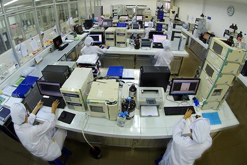 Phòng kiểm nghiệm đạt tiêu chuẩn quốc tế của Dược Hậu Giang.