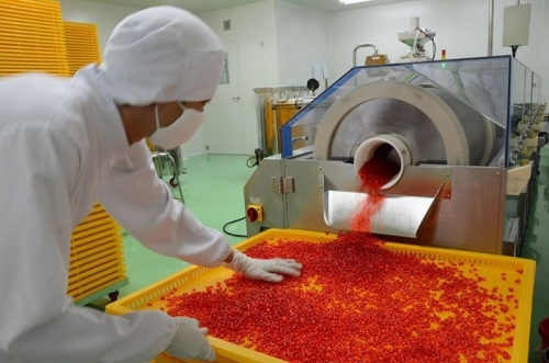 Bên trong nhà máy Dược Hậu Giang tại Khu công nghiệp Tân Phú Thạnh.