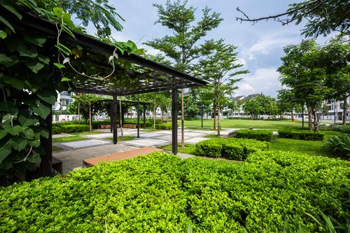 Không gian xanh thanh bình lý tưởng tại Gamuda Gardens.