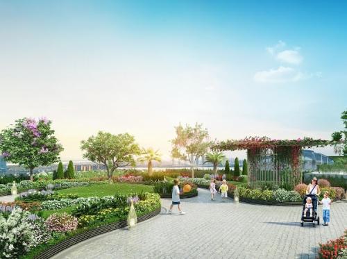 Imperia Sky Garden - nơi cuộc sống lãng mạn ngập tràn sắc xanh.