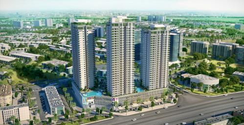 Bối cảnh chung cư The Zen Residence - khu căn hộ tốt nhất Hà Nội 2017.