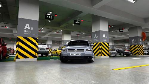 Hầm để xe thông minh áp dụng 4.0 tại Laroma. Web dự án: www.hatecolaroma.com.Hotline tư vấn dự án0904 677 788