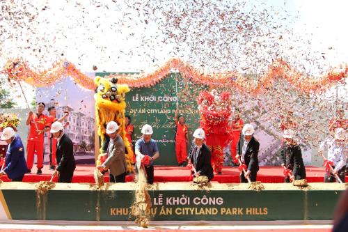 Lễ khởi công khu B - CityLand Park Hills mặt tiền đường Nguyễn Văn Lượng.