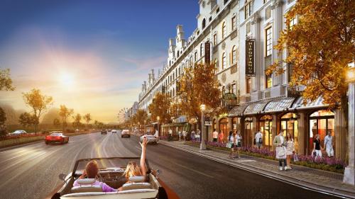 Phong cách kiến trúc Pháp tại tiểu khu nhà phố thương mại Élysée
