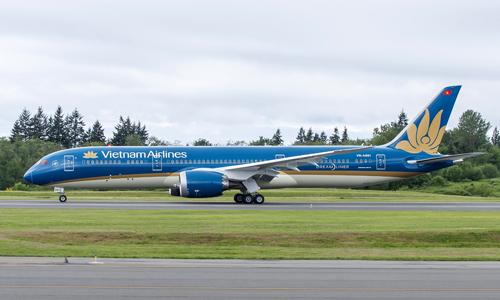 Máy bay của Vietnam Airlines đỗ trên phi trường. Ảnh: VNA.