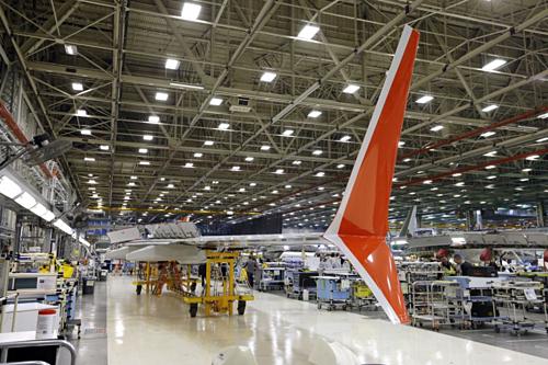 Nhà máy của Boeing ở Renton (Washington, Mỹ). Ảnh: AP