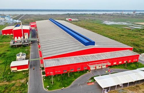 Nhà máy Number One Hậu Giang hiện đã hoàn thành giai đoạn một, quy mô vốn 1.800 tỷ đồng. Ảnh: Hữu Khoa.