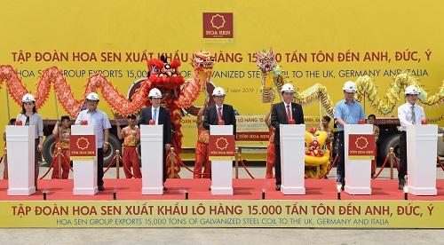 Hoa Sen tiếp tục xuất khẩu lô hàng chục triệu USD