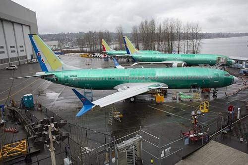 Một chiếc 737 MAX 8 được sản xuất cho China Southern Airlines. Ảnh: Bloomberg