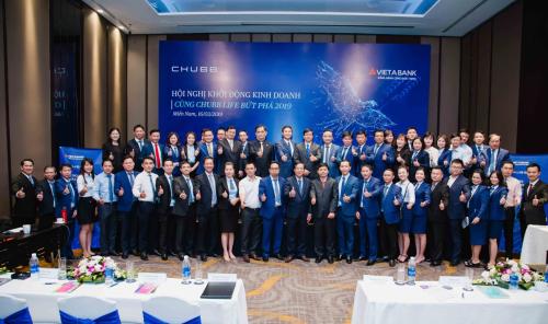 Hội nghị khởi động kinh doanh 2019 thành công với sự tham gia của các đại diện Chubb Life và VietABank.