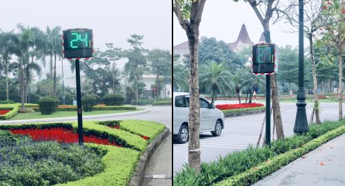 Hệ thống Ra-đa tín hiệu tốc độ đã có mặt đầu tiên tại các cung đường nội khu Ciputra.