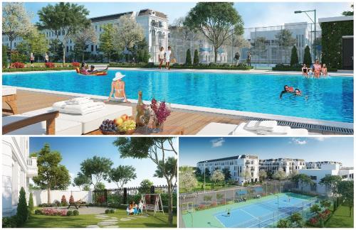Elegant Park Villa tọa lạc tại trung tâm phường Thạch Bàn, quận Long Biên, Hà Nội. 86 căn biệt thự, liền kề nơi đây nằm trong một miền xanh rộng lớn, kề bên là 5 hồ tự nhiên rộng 20ha. Không gian sống nơi đây còn được các chuyên gia bất động sản đánh giá là tiền đường tụ thủy, giúp chủ nhân phúc lộc tràn đầy.
