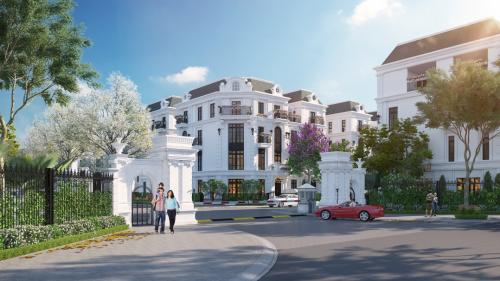 Elegant Park Villa lấy cảm hứng từ kiến trúc Pháp lãng mạn. Các căn biệt thự, liền kề tại đây được định vị dành riêng cho những khách hàng thượng lưu. Tại những con đường, các kiến trúc sư đặc biệt chọn đá bazan núi lửalát đường theo phong cách cubic.