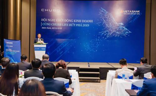 Ông Nguyễn Hồng Sơn, Phó Tổng giám đốc Thường trực Chubb Life Việt Nam phát biểu tại Hội nghị Kinh doanh khu vực miền Nam.