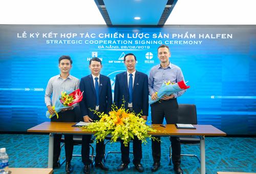 Lễ ký kết hợp tác chiến lược sản phẩm giữa Đất Xanh Miền Trung và Halfen Group.
