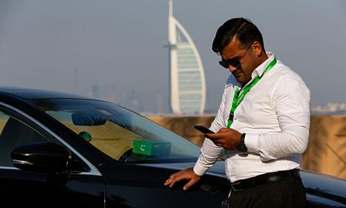 Một tài xế của Careem tại Dubai, UAE. Ảnh: Bloomberg