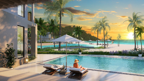 Phối cảnh những căn villa mặt biển cuối cùng tại Bãi Kem.
