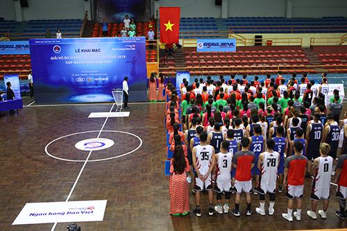 Lễ khai mạc giải vô địch bóng rổ quốc gia năm 2019.